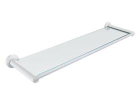 Mizu Drift Glass Shelf White