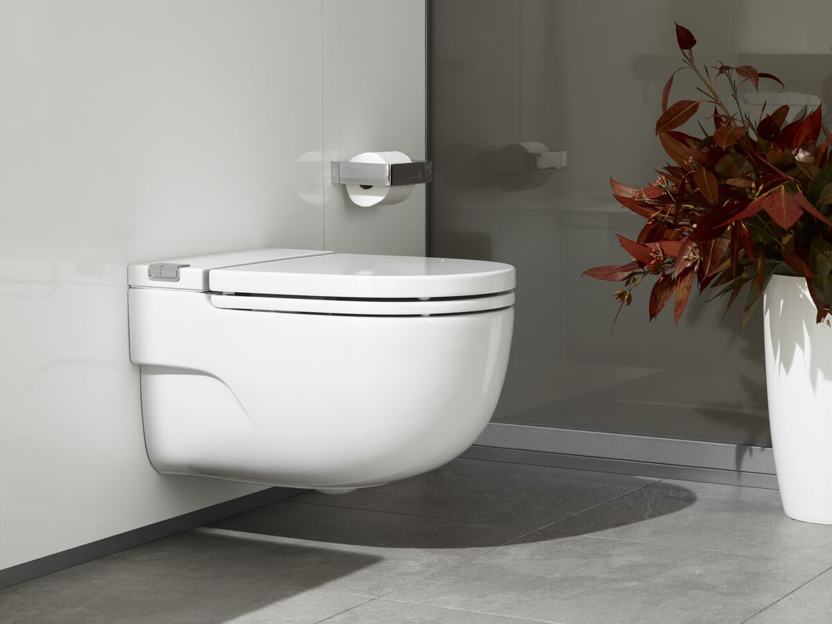 Roca Meridian In Tank Wall Hung Pan with Soft Close Seat & L Support White (4 Star)