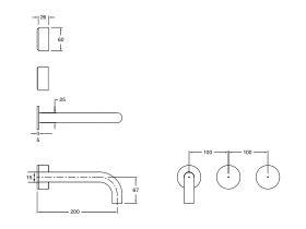 Milli Pure Wall Basin Hostess System 200mm (3 Star)