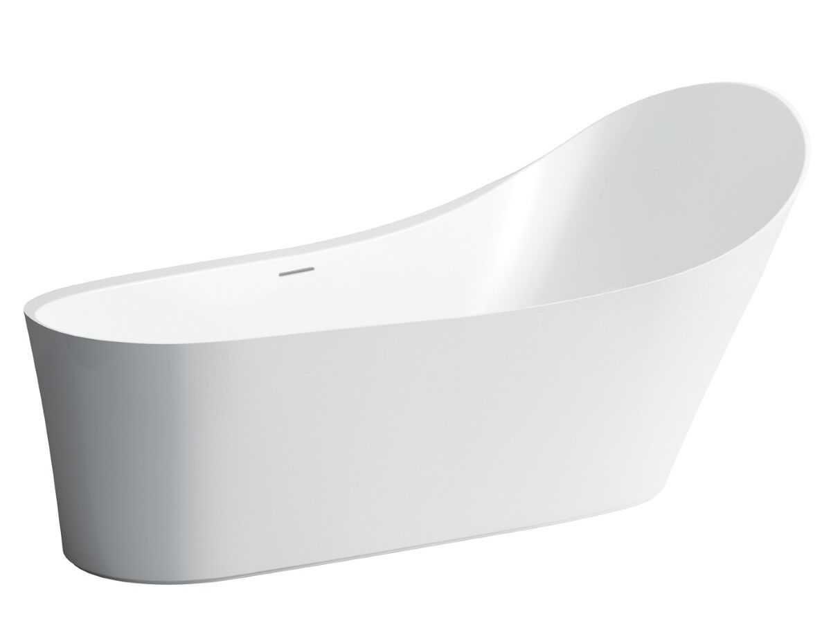 LAUFEN Palomba Solid Surface Freestanding Bath Overflow 1800 White