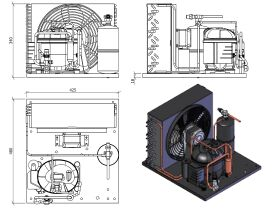Tecumseh Condensing Unit 1/2HP R134A MHBP AET4456YHR