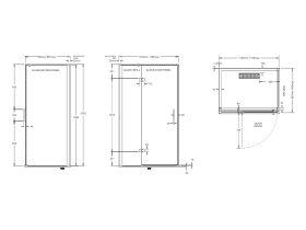Posh Domaine MK2 1200mm x 900mm Semi Frameless Right Hand Entry Base & Screen Only Shower System