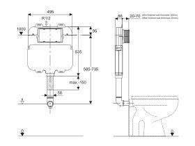 Hideaway+ Inwall Cistern Back to Wall (4 Star)