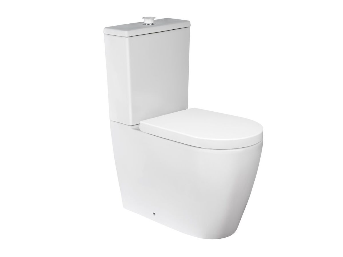 Wolfen Ambulant Close Coupled Back To Wall Toilet Suite Double Flap Seat White (4 Star)