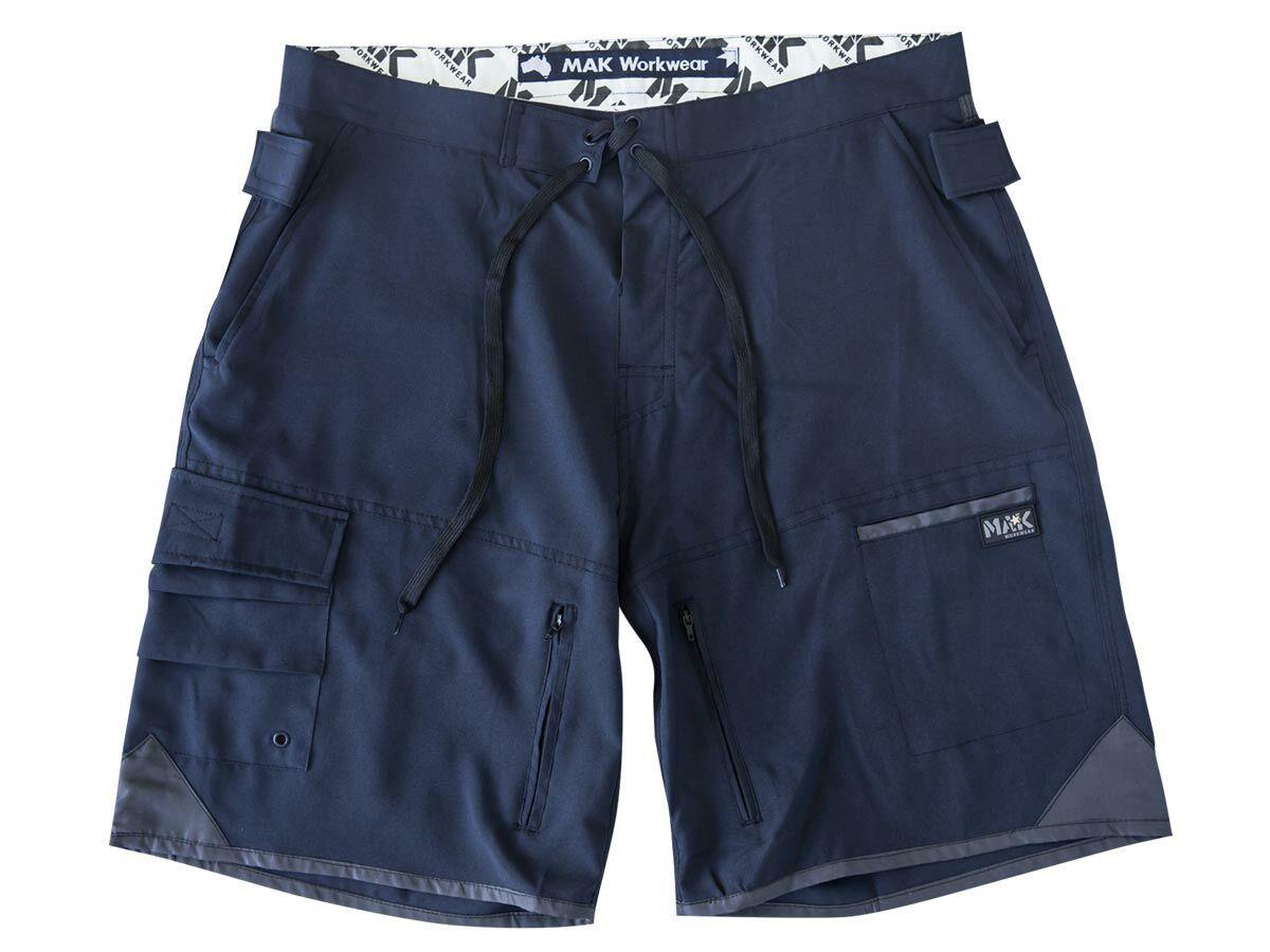 MAK Workwear Work & Surf Short Navy - 32