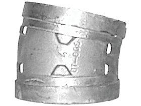 R/G ELBOW (GALV) 150MM  X 11 1/4 DEG