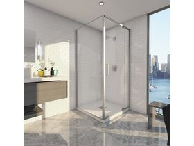 Base MKII Shower System with Centre Outlet White & Chrome