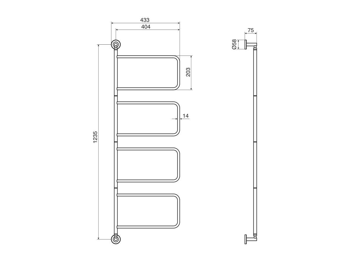 Milli Axon Multi Towel Rail Swivel Chrome