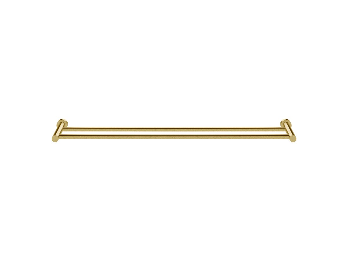 Scala Double Towel Rail 900mm LUX PVD Brushed Pure Gold