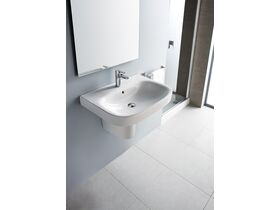 Roca Debba Wall Basin with Fixing Kit 500mm 1 Taphole White