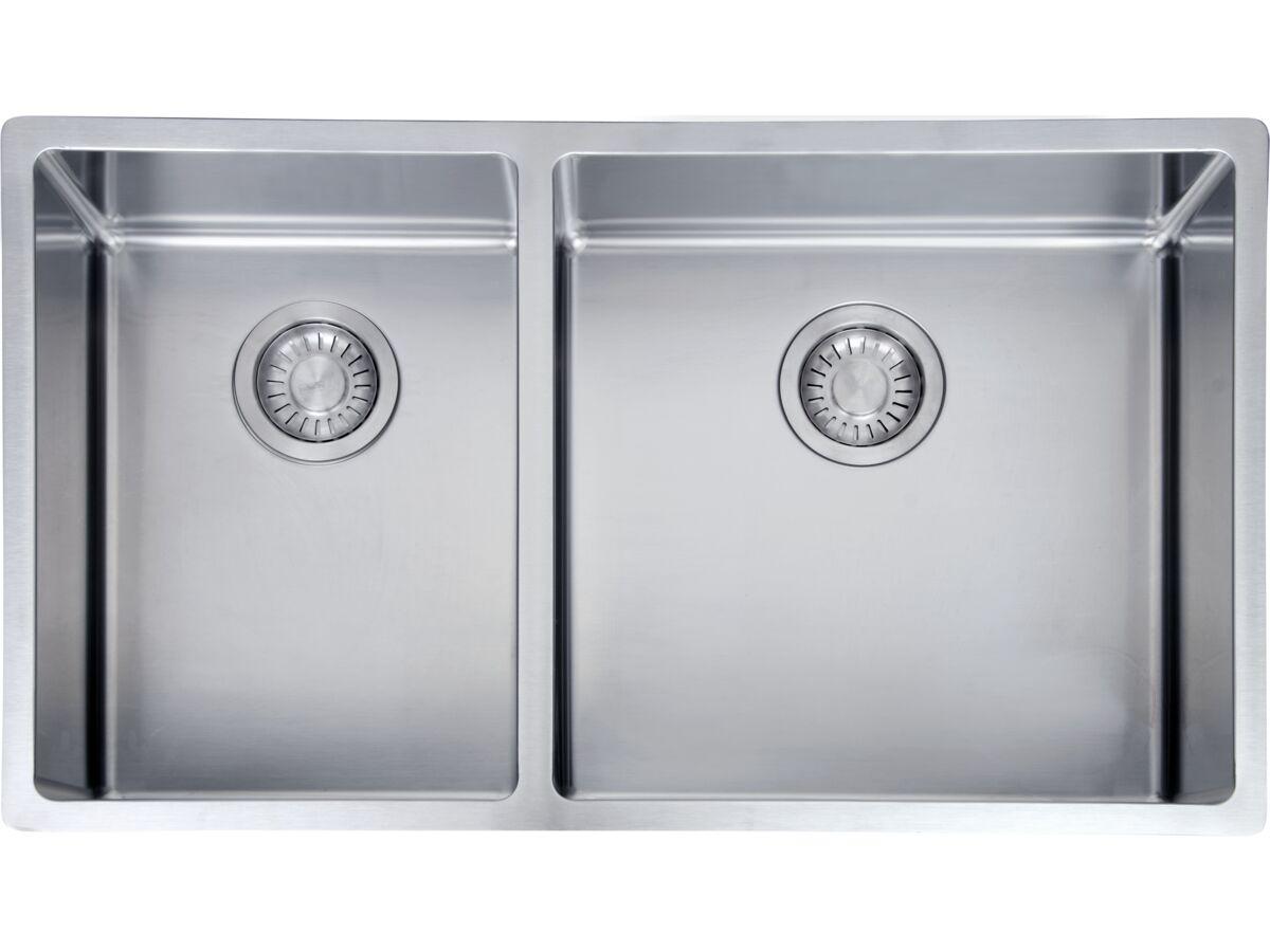 Franke Bow BXX220-42/29SBL 1 3/4 Bowl Inset/ Undermount/ Flushmount Sink Stainless Steel