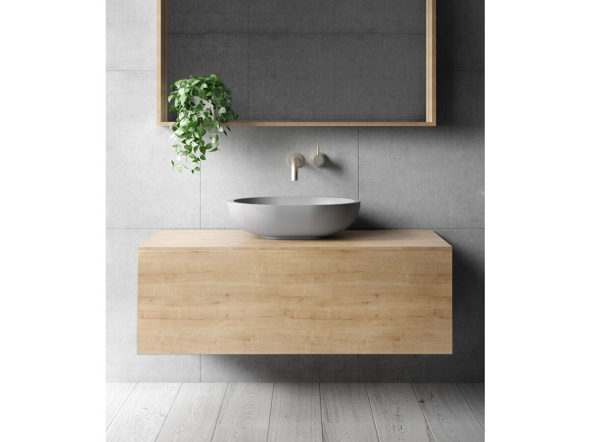 Venice 1200mm Box Frame Mirror and Wall Hung Vanity Arlington Oak