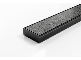 Kado Lux Tile Insert Channel Welded Ends Centre Outlet Matte Black