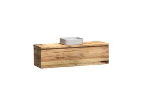 Kado Arc Timber All Drawer 1500 Single Bowl Vanity Timber 32mm Top