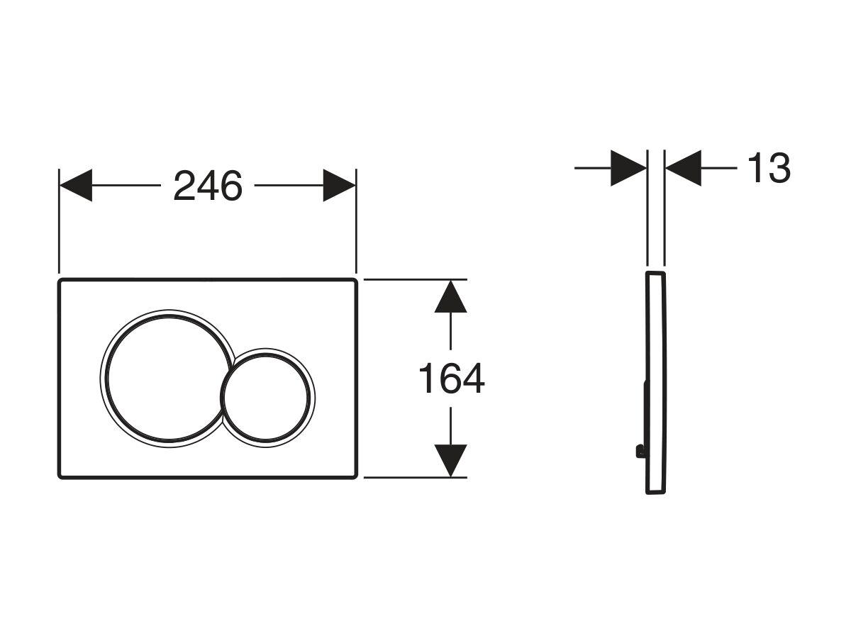 Geberit Sigma 01 Dual Flush Access Plate ABS Plastic Satin / Chrome