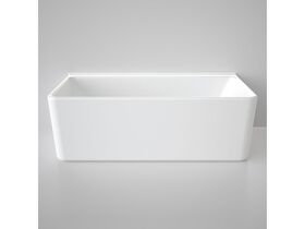 Caroma Cube Back To Wall Freestanding Bath 1800 White