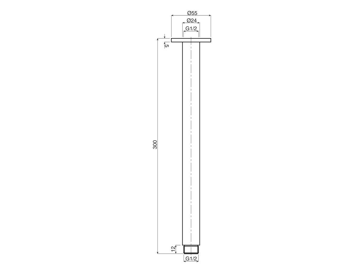 Mizu Drift Ceiling Shower Arm Only 300mm