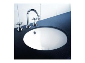 Cosmo Undercounter/Overcounter Basin with Overflow No Taphole White
