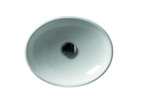 AXA H10 Oval Counter Basin 400 x 320mm White