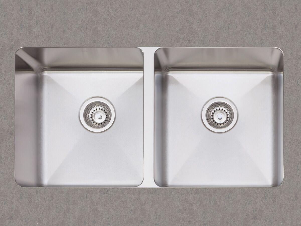 AFA Cubeline Double Bowl Undermount Sink 802mm Stainless Steel