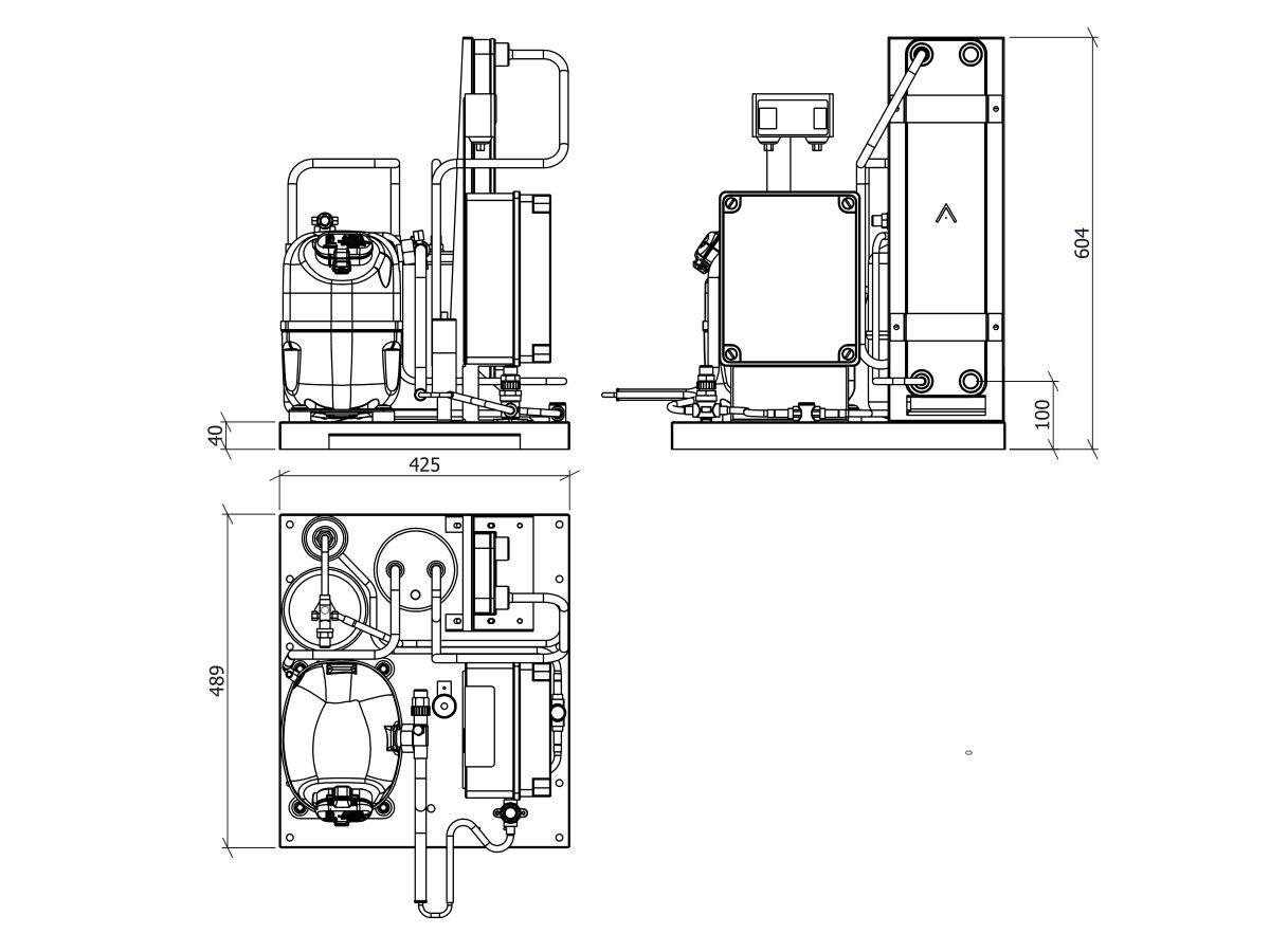 Tecumseh EVO-Aqua Water Cooled Condensing Unit R404A TAJ4517ZHR-HE 3 Phase
