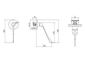 Posh Solus MK3 Shower Mixer with Extended Lever 270mm Chrome