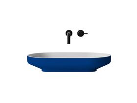 Venice 700 Counter Basin Solid Surface Softskin Gentian Blue