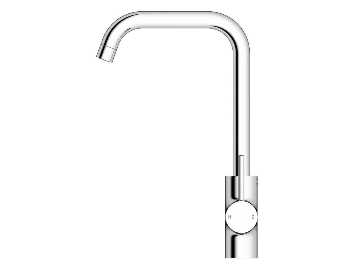 Mizu Drift MK2 Sink Mixer Tap Square Outlet Chrome (4 Star)
