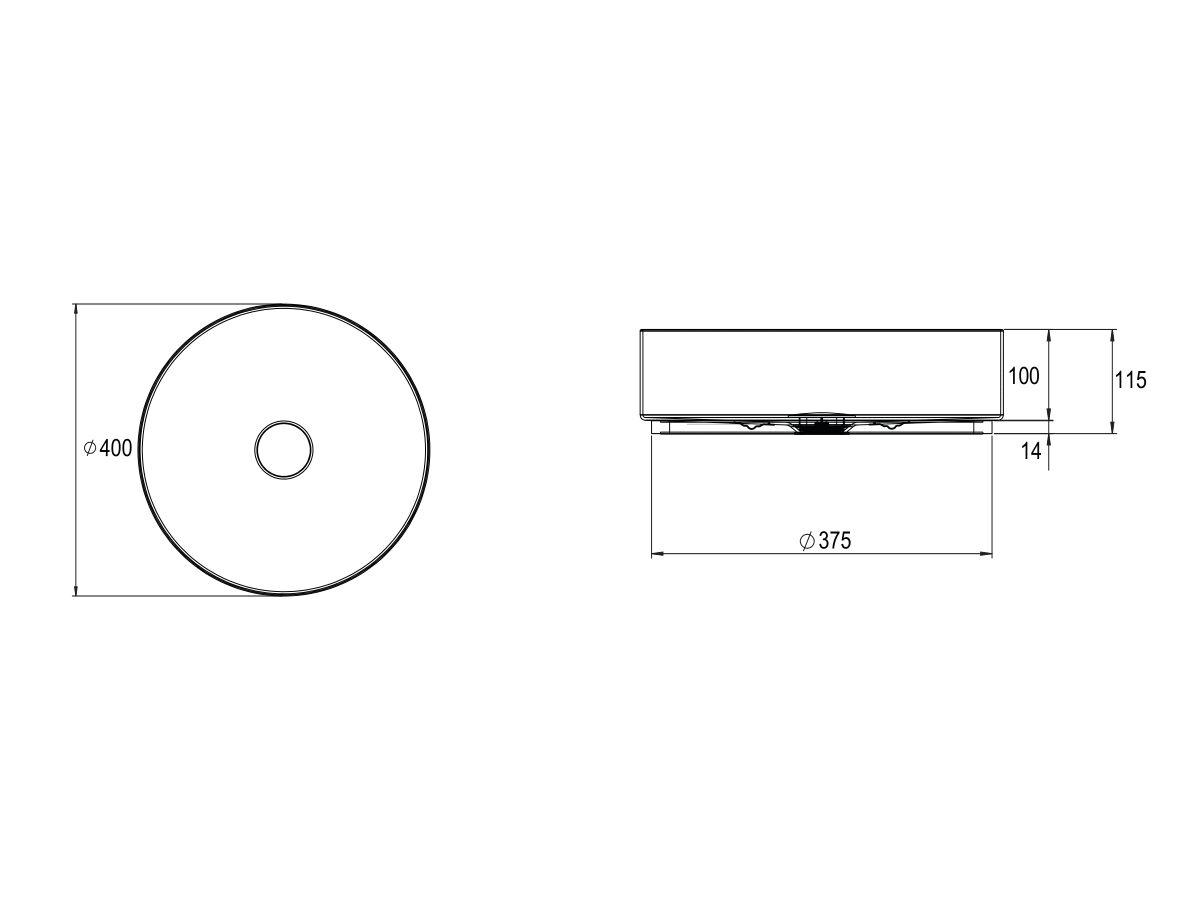 Alape Unisono Counter Basin 400mm