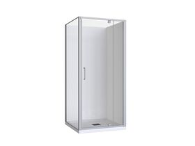 Base MKII Shower System with Centre Outlet 900mm x 900mm White & Chrome