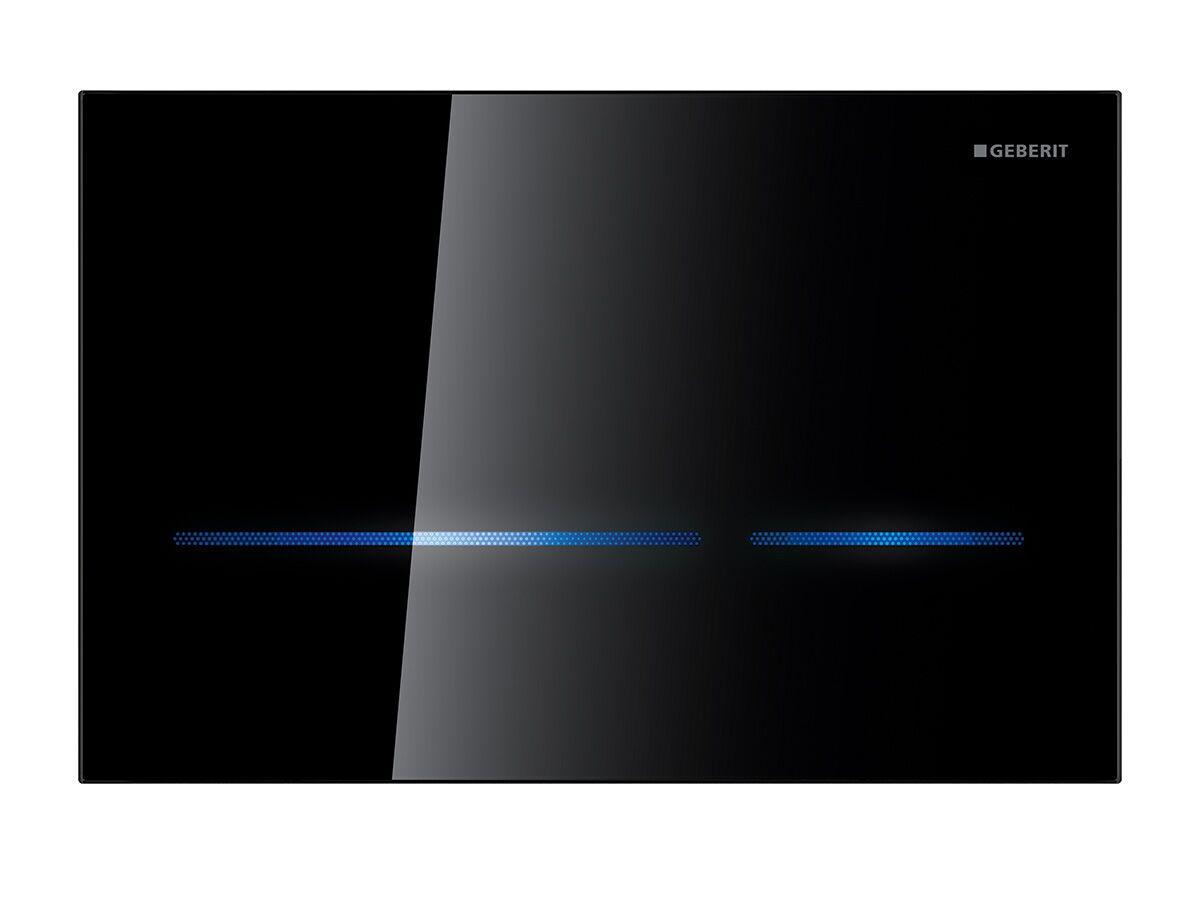 Geberit Sigma 80 Electronic Dual Flush Black Glass