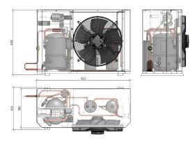 Tecumseh Compac Condensing Unit R404A PAC2480Z 3 Phase