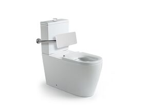 Wolfen 800 Close Coupled Back to Wall Toilet Suite Single Flap Seat with Back Rest White (4 Star)