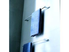 Milli Edge Single Towel Rail 600mm Chrome