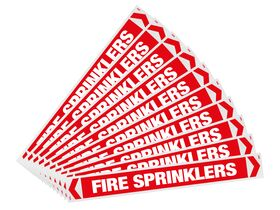 Pipe Marker Fire Sprinklers 400mm x 50mm (10)