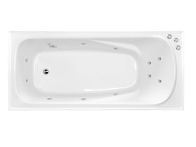 POSH Solus MKII Rectangle Spa with 12 Chrome Jets and Auto Heat Pump Spa 1675 White