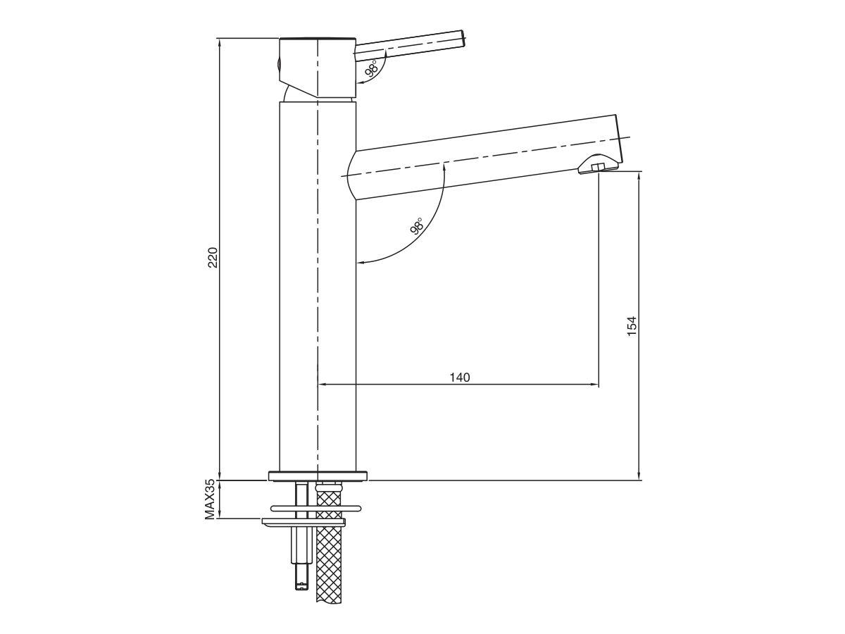 Mizu Drift MK2 Medium Height Basin Mixer (5 Star)