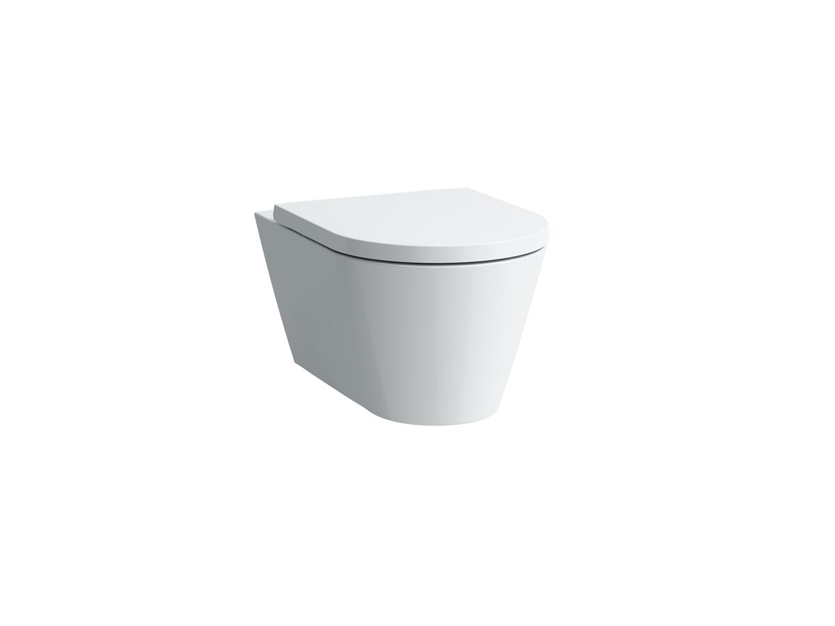 Laufen Kartell By Laufen Rimless Wall Hung Pan and Soft Close Quick Release Seat (4 Star)