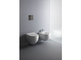 AXA Uno Wall Hung Rimless Pan Soft Close Quick Release Seat White (4 Star)