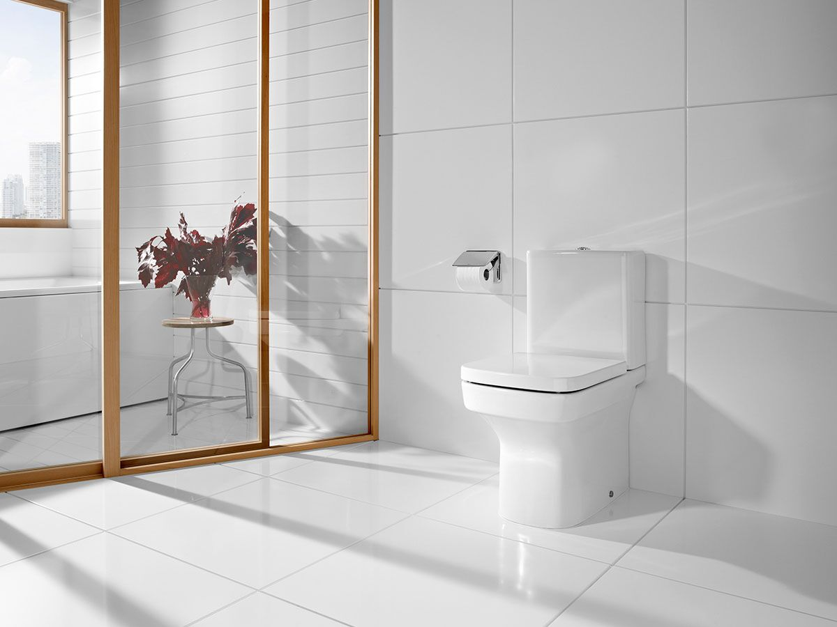 Roca Dama-N Close Coupled Back To Wall Suite (No Lid) White (4 Star)