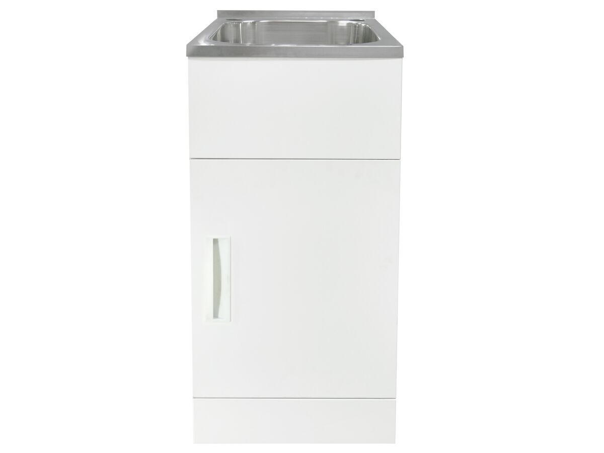 Posh Domaine Trough & Cabinet 27L with Bypass 2 Taphole Stainless Steel
