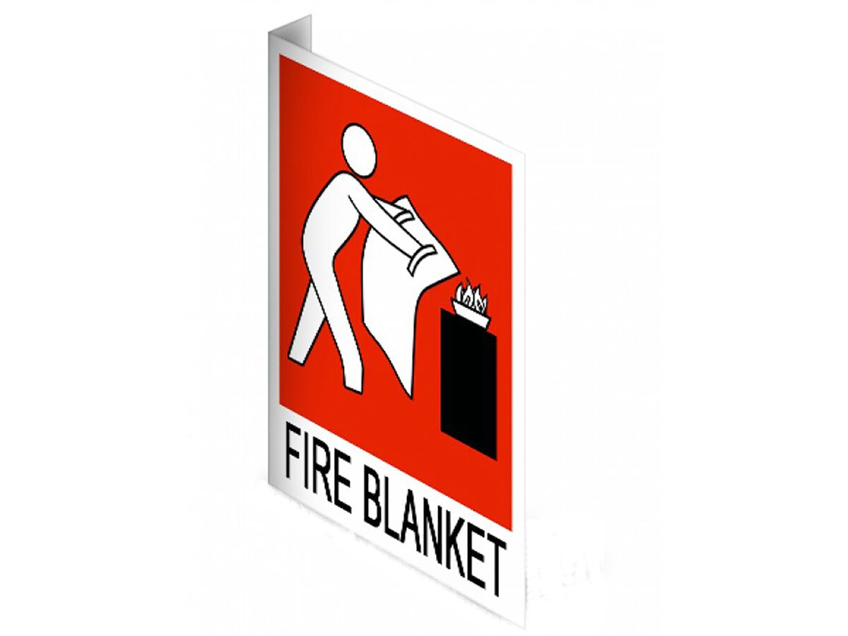 Location Signs Fire Blanket Right Angle - Plastic