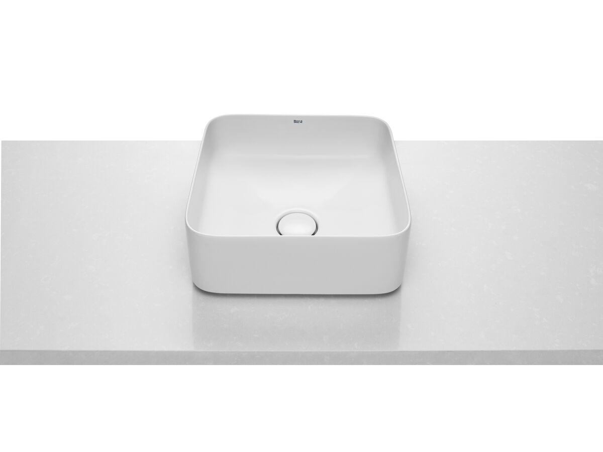 Roca Inspira Square Vessel No Taphole 370 x 370mm White