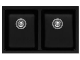 Franke Impact Granite IMG120-35 Double Bowl Undermount Sink Onyx