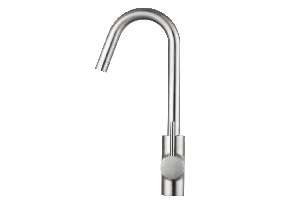 Mizu Drift MK2 Gooseneck Sink Mixer Tap Brushed Nickel (4 Star)