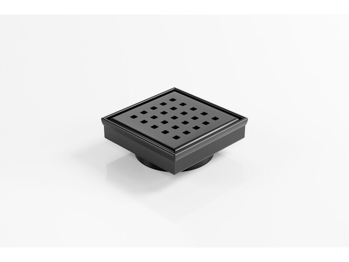 Kado Lux Square Floor Waste 97mm DN80 Matte Black