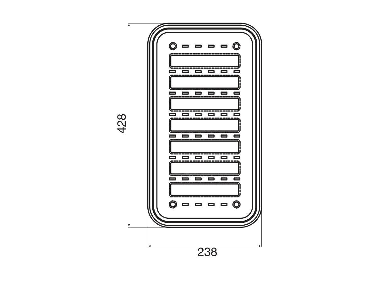 AFA Cubeline Colander 428 x 238mm Stainless Steel