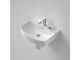 Caroma Forma 500mm Wall Basin 3 Taphole with Overflow