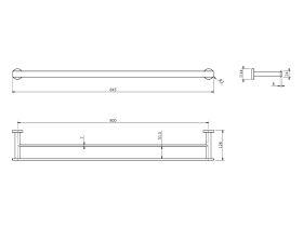 Milli Axon MK2 Double Towel Rail 800mm