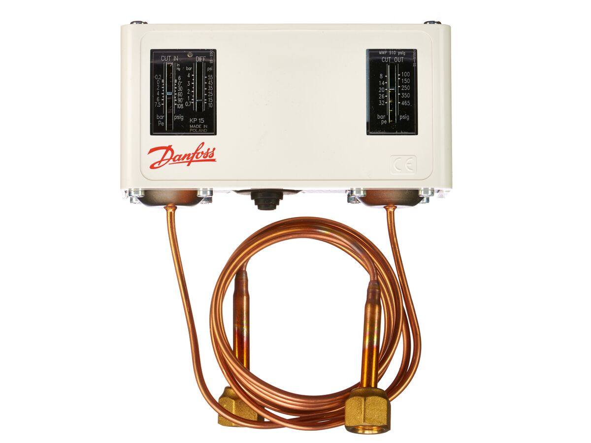 Danfoss KP15 Dual Pressure Control with Capillary